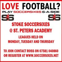 6aside mens football in stoke on trent