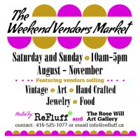 Weekend Vendors Market (Aug-Nov 2014) hosted by Rose Will Studio &amp Refluff.ca