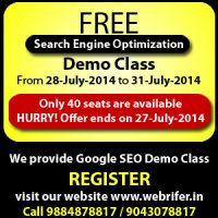 FREE Search Engine Optimization Demo Class  Ambattur