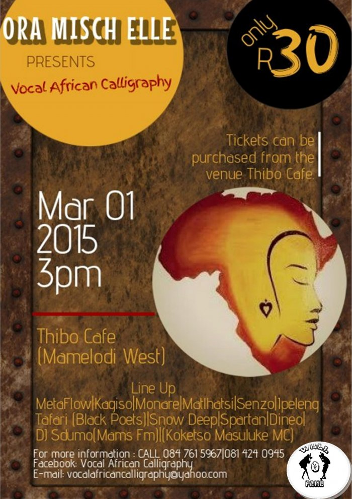 2nd Edition Of The Vocal African Calligraphy At Thibo Cafe