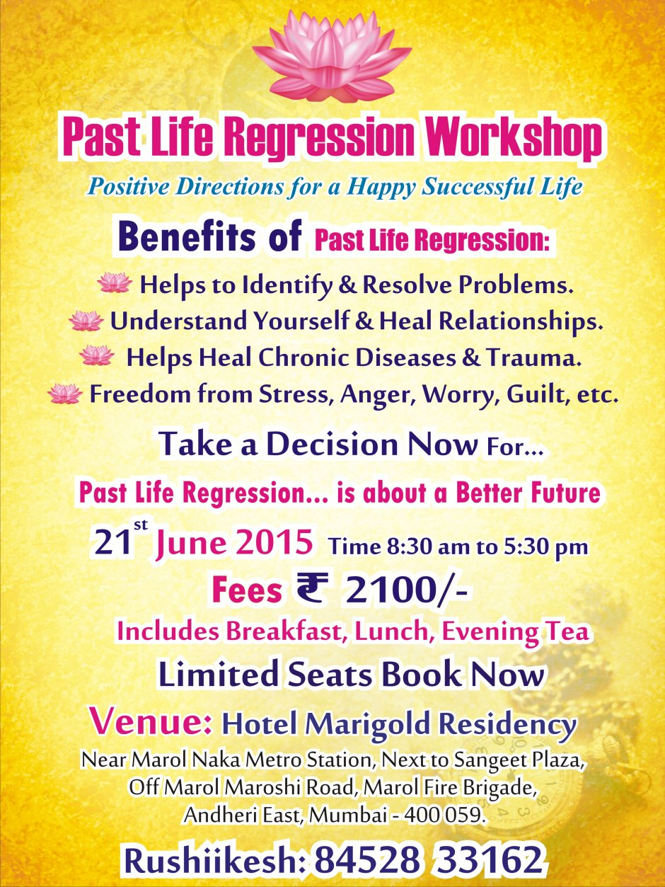 Past Life And Karmic Tarot By Edain Mccoy: Past Life Regression Therapy Workshop Mumbai At Hotel