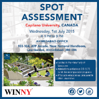 FREE Spot Assessment by the Representative of the Capilano University Canada