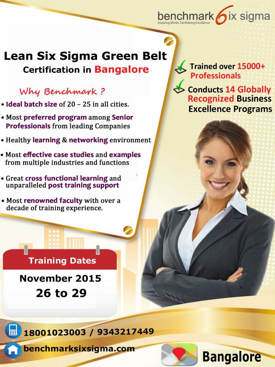 Lean Six Sigma Green Belt Certification Program In Bangalore At