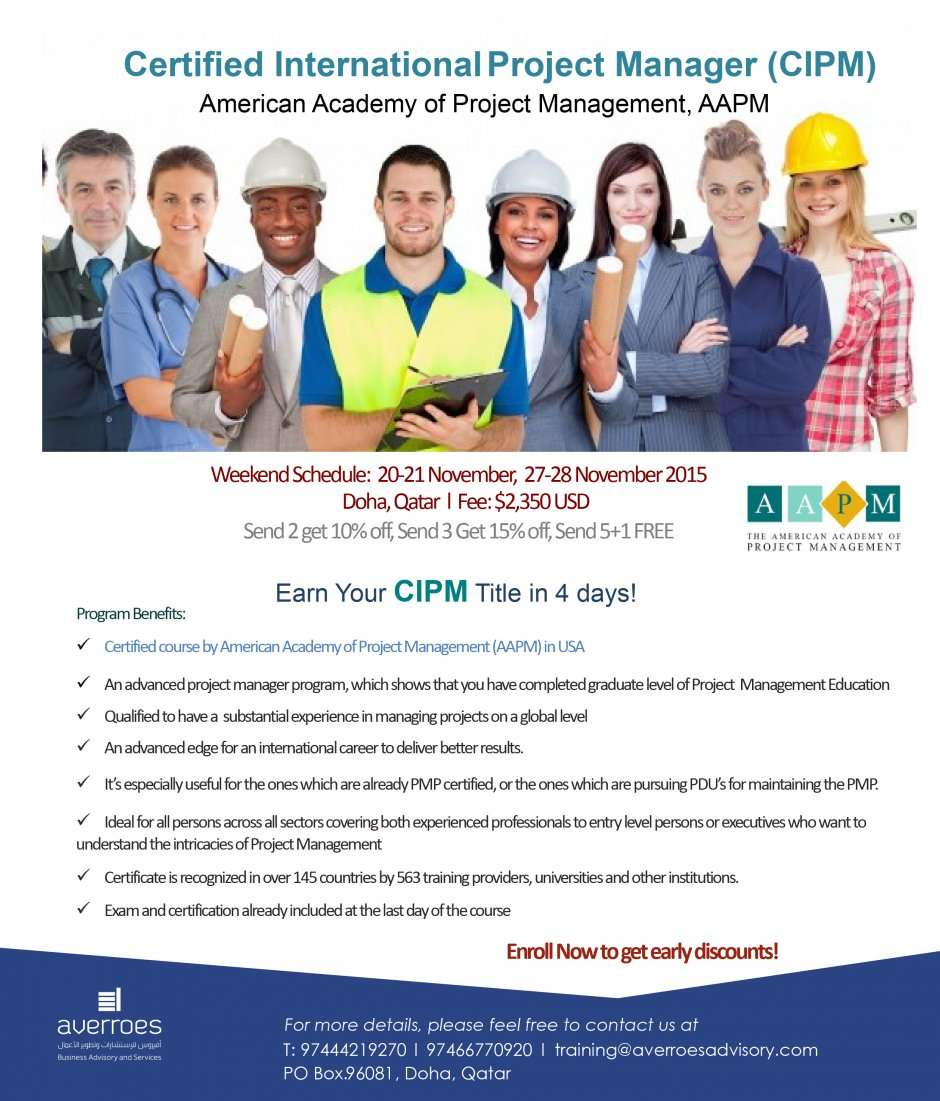 Cipm Certified International Project Manager Be Certified Be