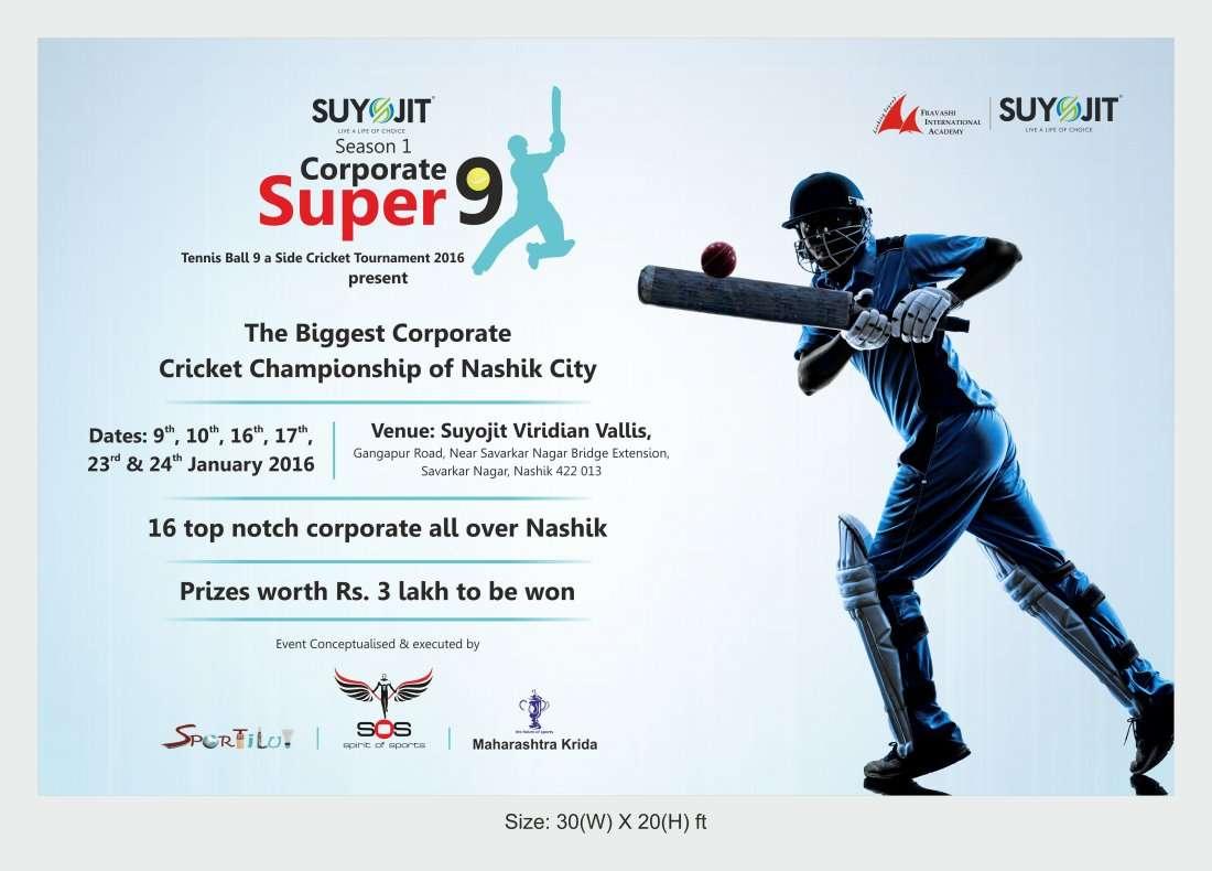 Super 9 Corporate Cricket Tournament At Suyojit Varadian