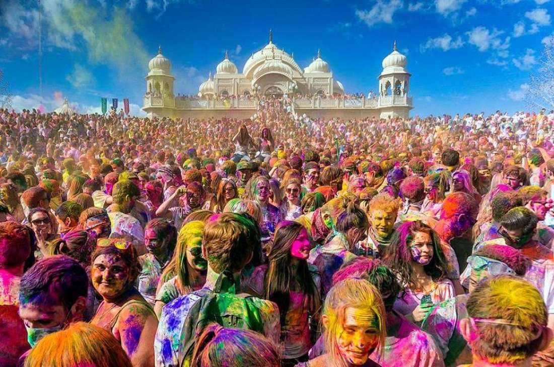 Image result for holi mathura
