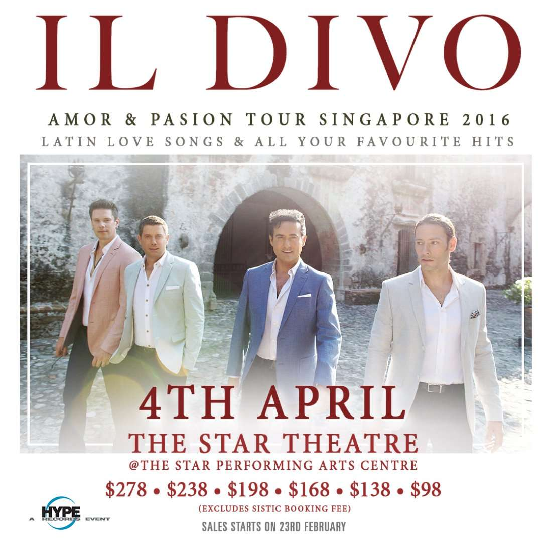 Il divo amor pasion tour singapore 2016 at the star - Il divo meaning ...
