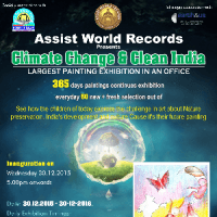 Assist World Records &quotLargest Painting Exhibition in an Office&quot in association with AEFest