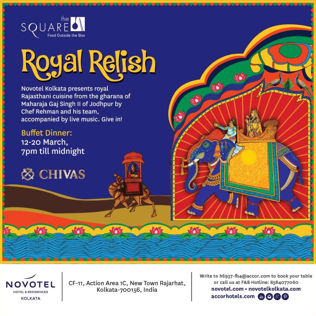 Royal Relish - a Jodhpuri food festival  at The Square, Novotel