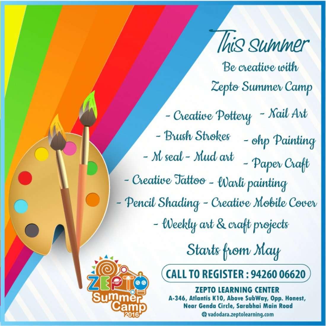 Art Craft Workshop For Kids At Zepto Learning Center A 346