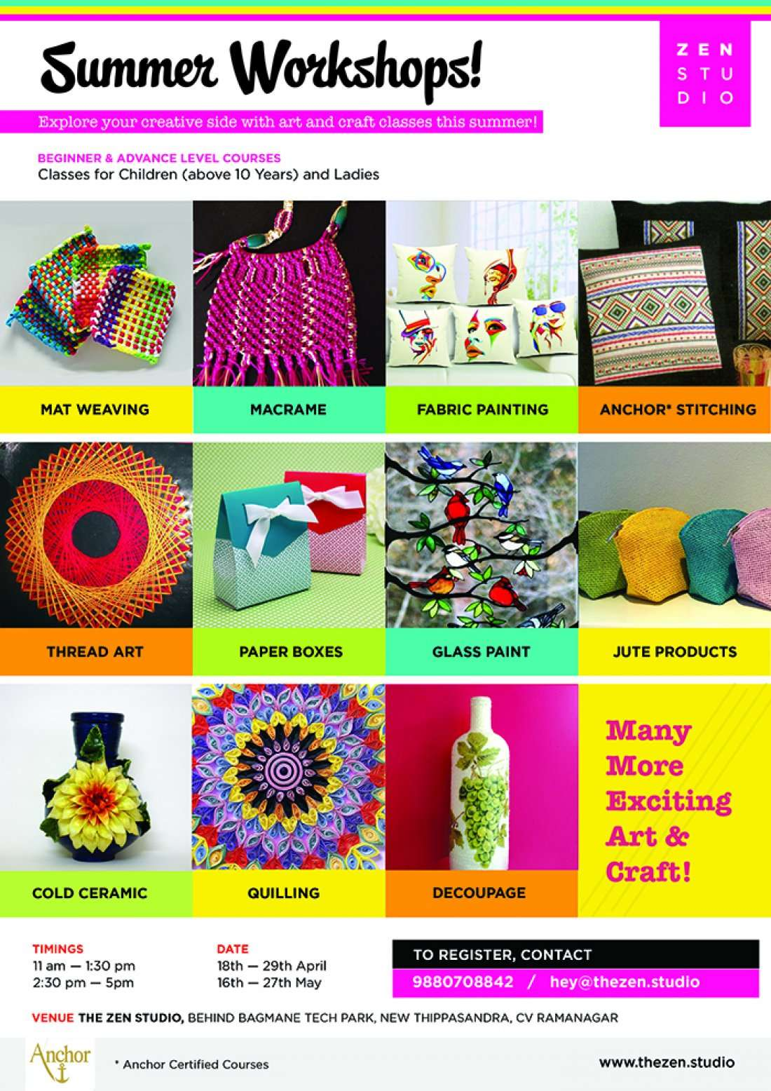 Art And Craft Courses In Bangalore