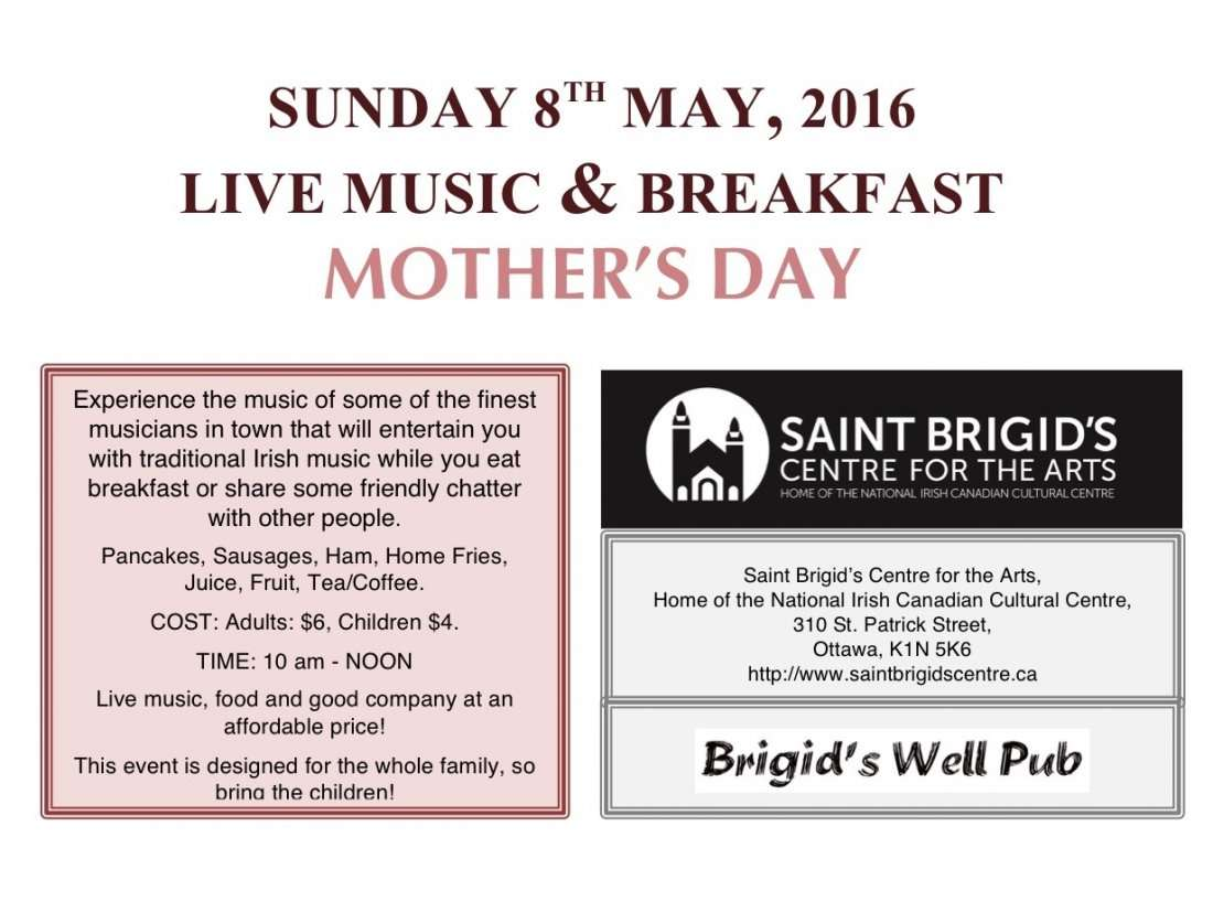 Live Music Amp Breakfast Mother S Day Ottawa