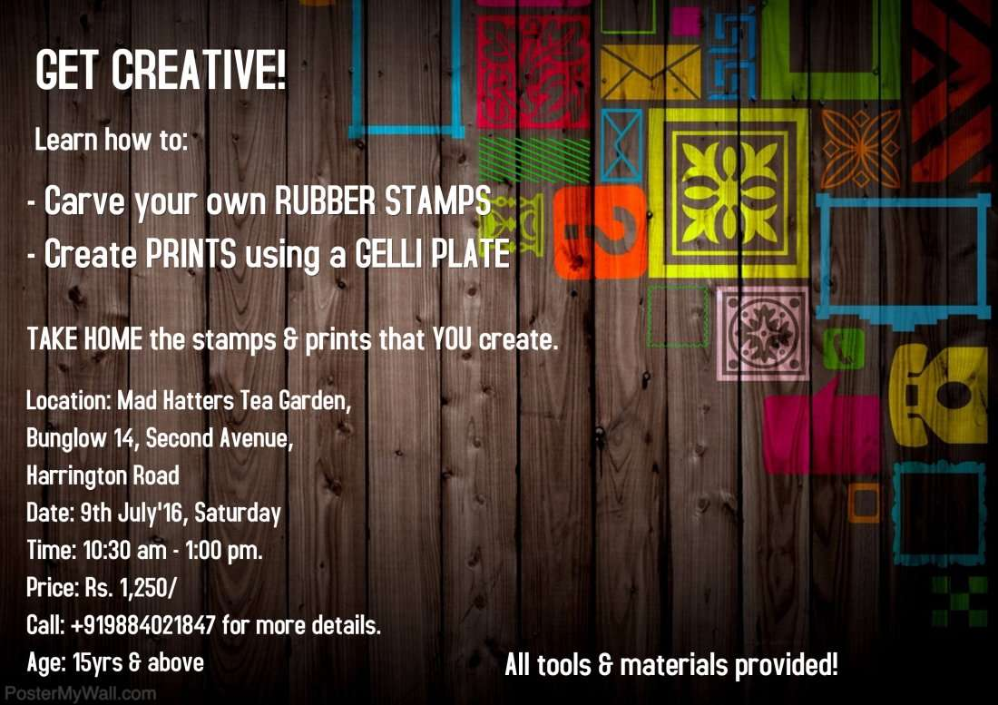 Rubber Stamp Making Print Workshop