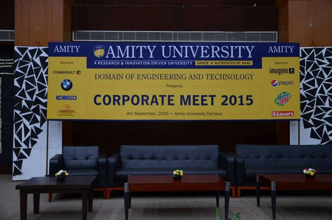 Corporate Meet 2016 At Amity University Uttar Pradesh Auup Noida
