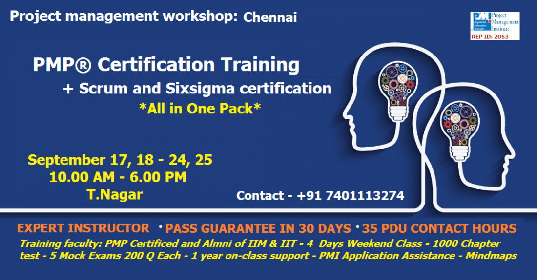Pmp Certification Training Chennai At Itechgurus Chennai